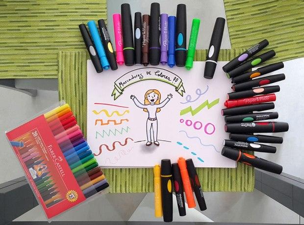Marcadores de colores